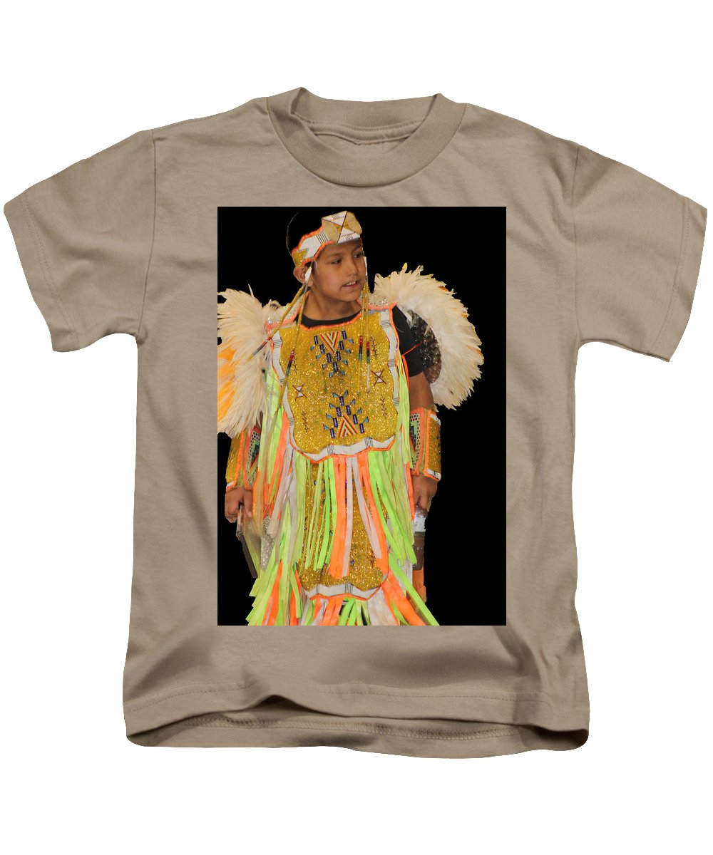 Native Americans Kids T-Shirt featuring the photograph Regal And Young by Audrey Robillard