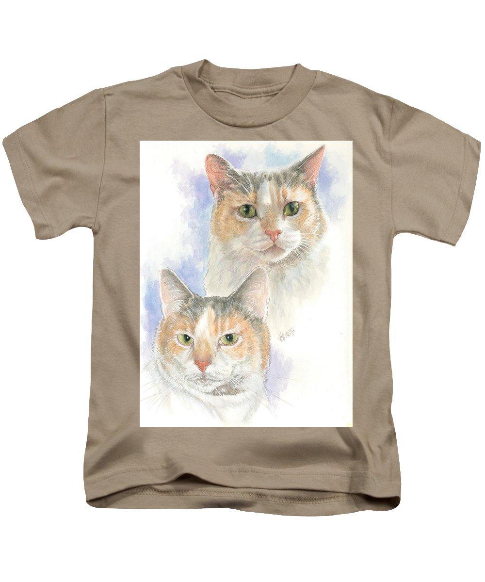 Domestic Kids T-Shirt featuring the mixed media Reno by Barbara Keith