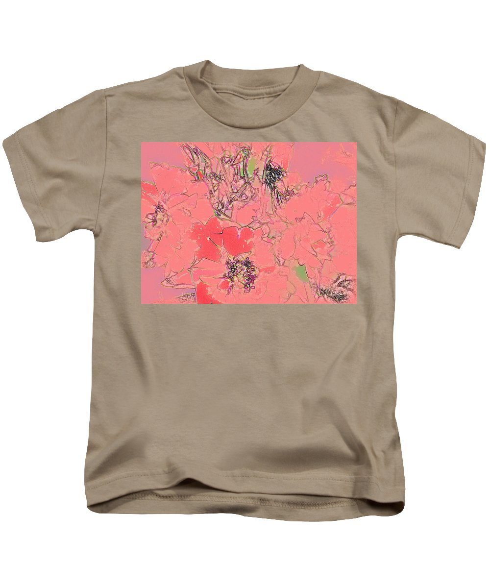 Rose Kids T-Shirt featuring the digital art Rose Diffused by Ian MacDonald