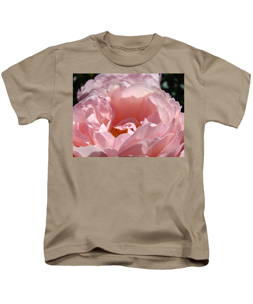 Rose Kids T-Shirt featuring the photograph Roses Pink Rose Flower 2 Rose Garden Art Baslee Troutman Collection by Baslee Troutman