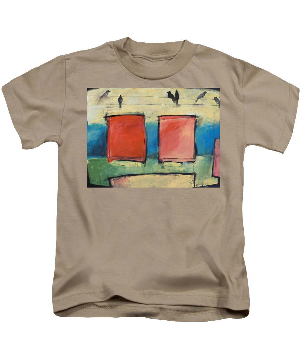 Rothko Kids T-Shirt featuring the painting Rothko Meets Hitchcock by Tim Nyberg