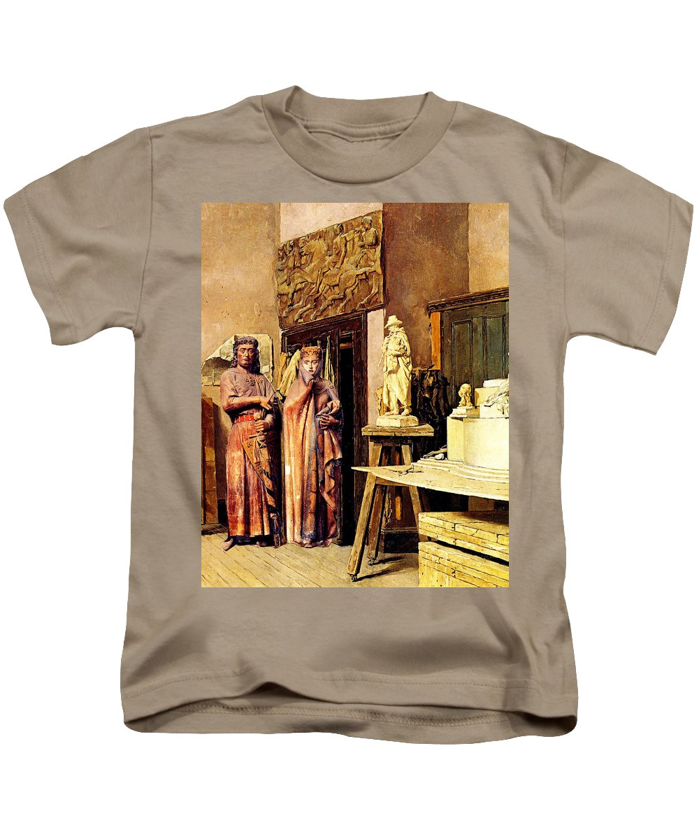 Collage Kids T-Shirt featuring the digital art Royal Art by John Vincent Palozzi