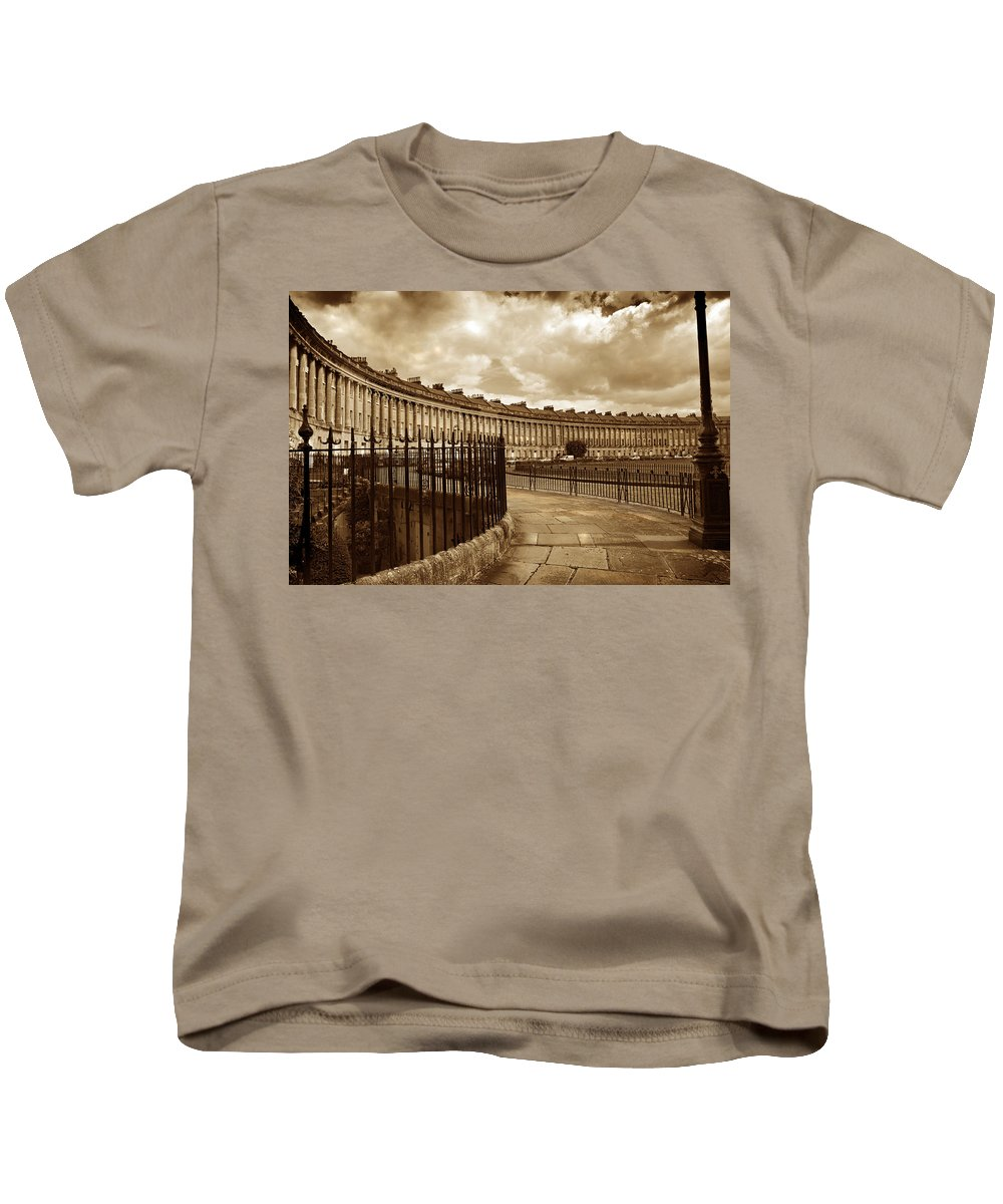 Bath Kids T-Shirt featuring the photograph Royal Crescent Bath Somerset England Uk by Mal Bray