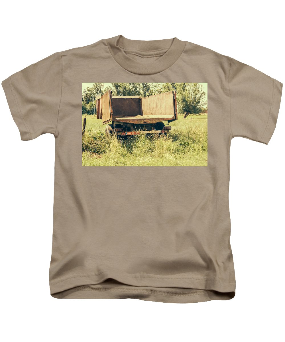 Trailer Kids T-Shirt featuring the photograph Rural Atmosphere by Pati Photography