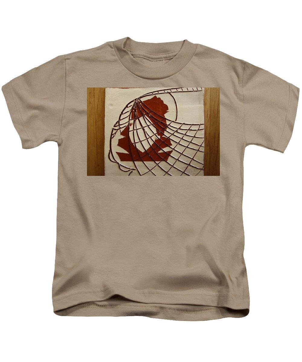 Jesus Kids T-Shirt featuring the ceramic art Samantha - Tile by Gloria Ssali