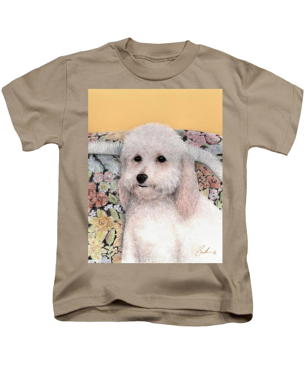 Dog Art Animals Bruce Lennon Kids T-Shirt featuring the painting Sammy by Bruce Lennon