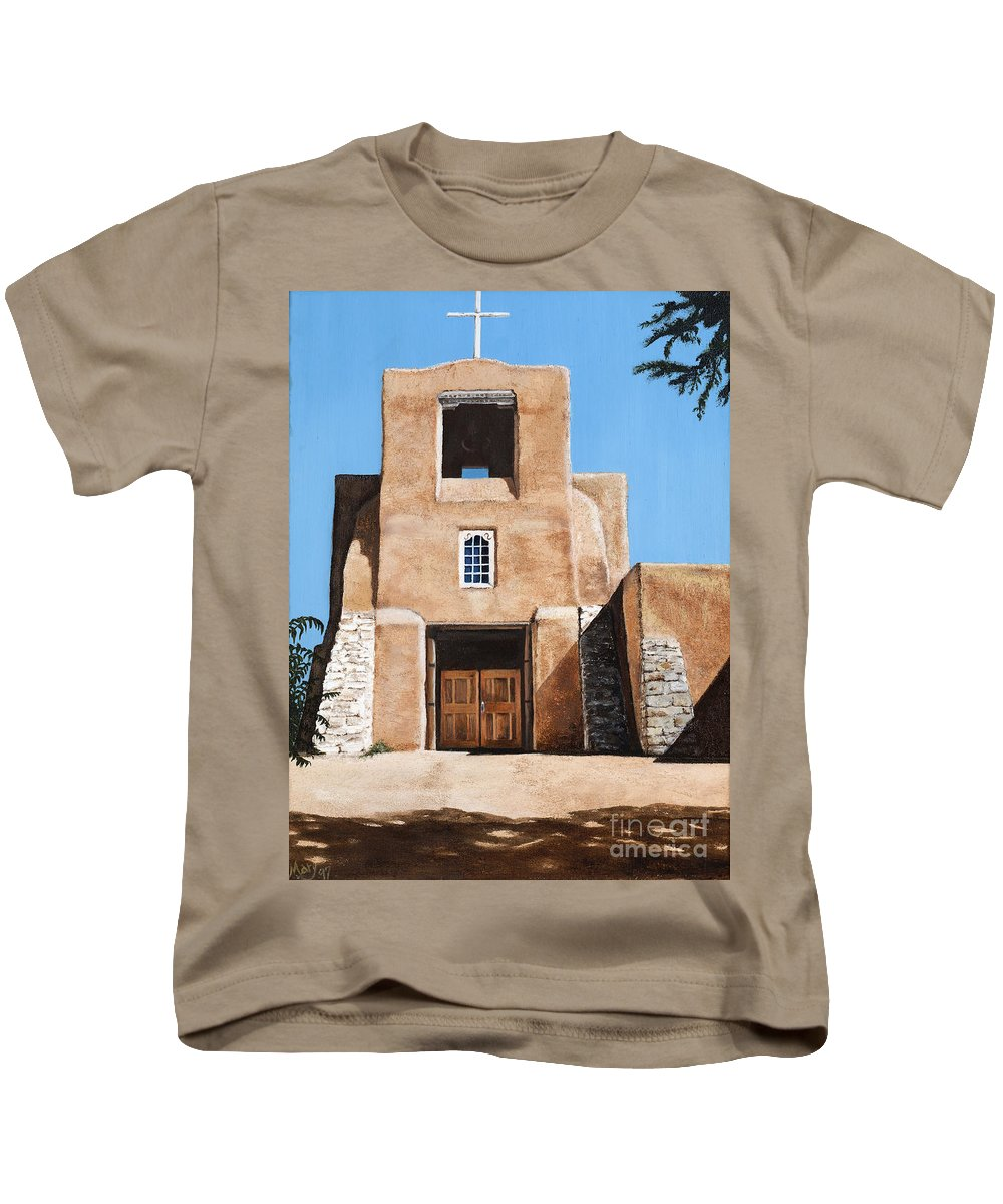 Art Kids T-Shirt featuring the painting San Miguel by Mary Rogers