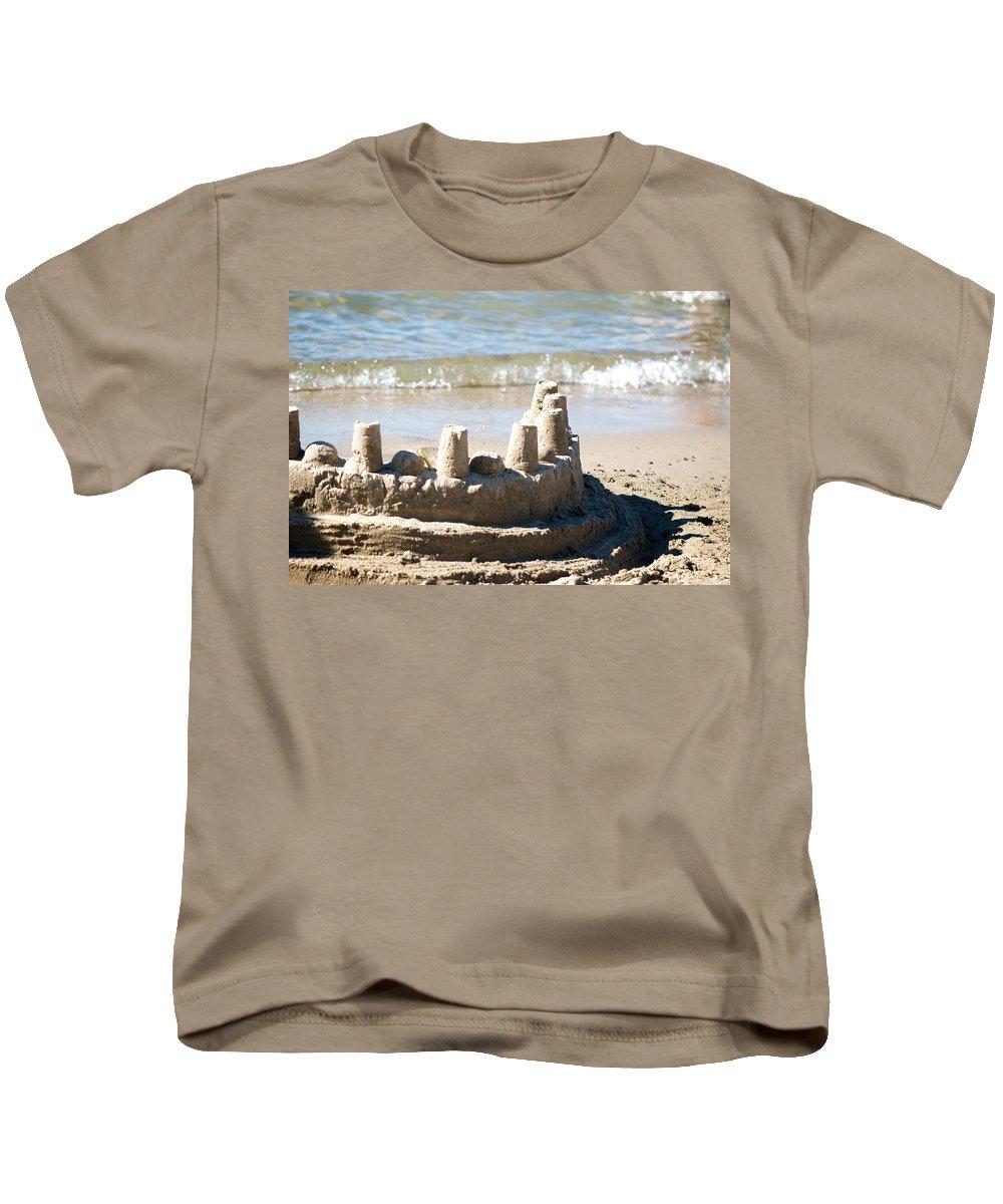 Sand Kids T-Shirt featuring the photograph Sandcastle by Lisa Knechtel