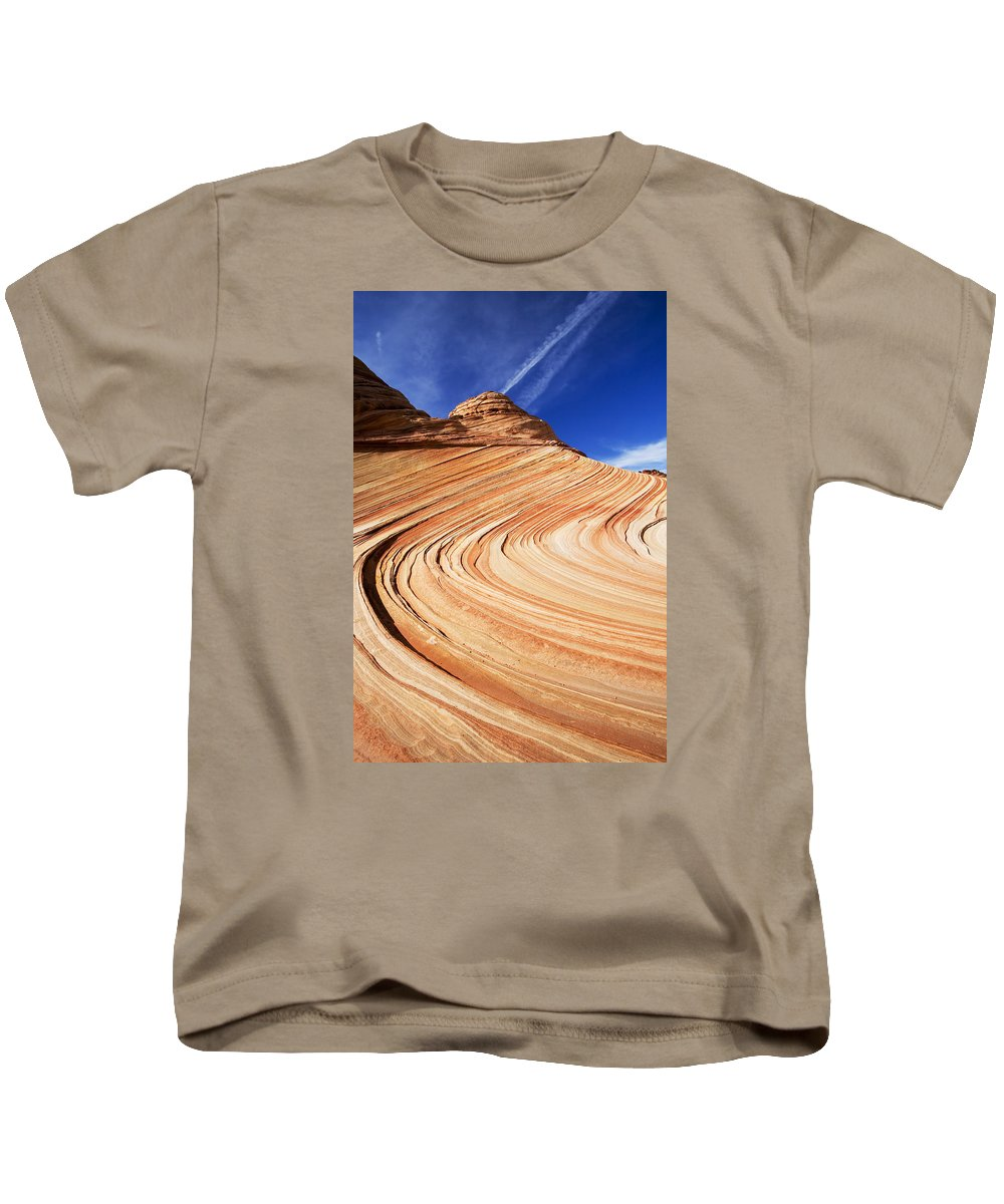 The Wave Kids T-Shirt featuring the photograph Sandstone Slide by Mike Dawson