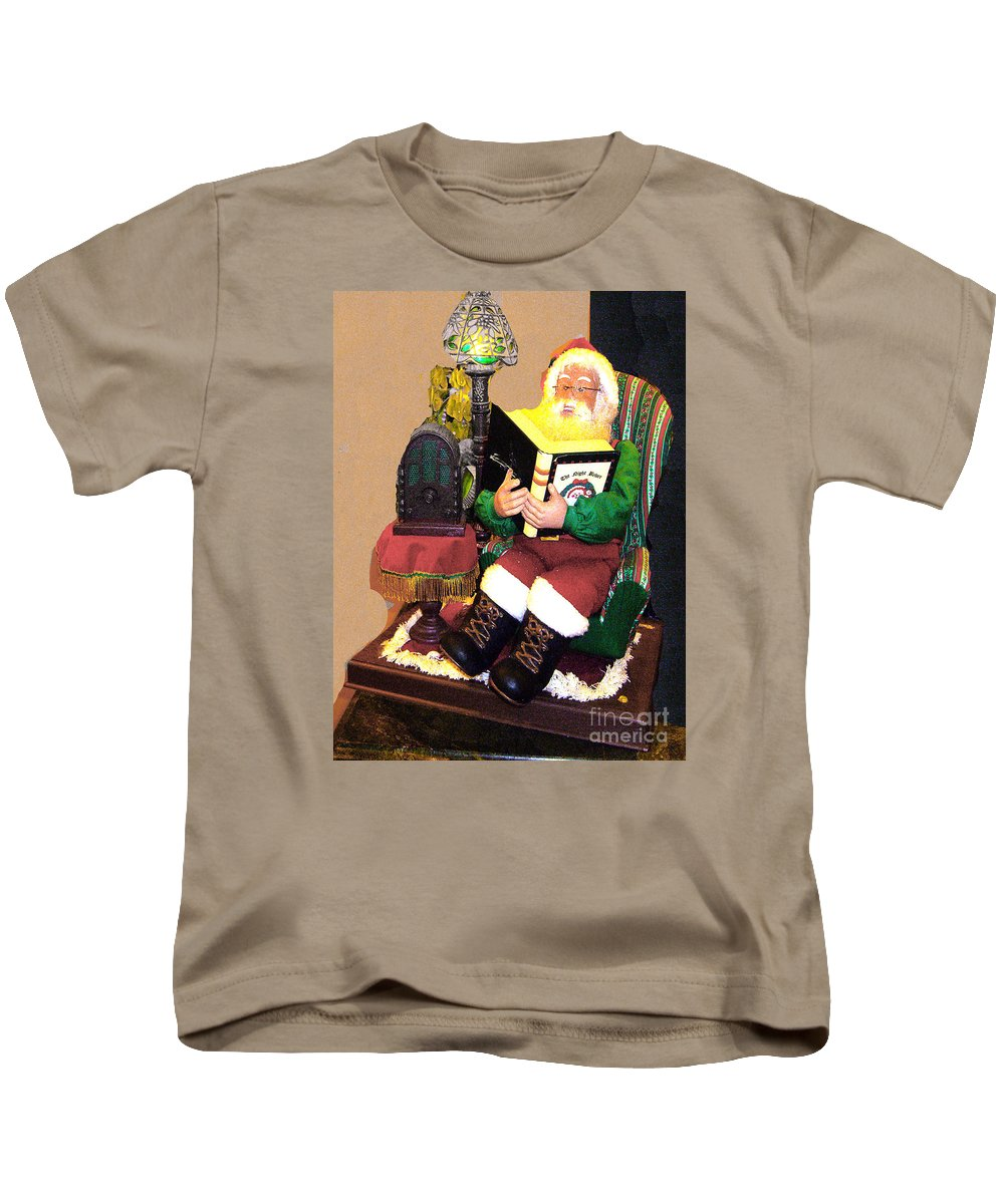 Santa Kids T-Shirt featuring the photograph Santa Reads A Story To The Children by Merton Allen