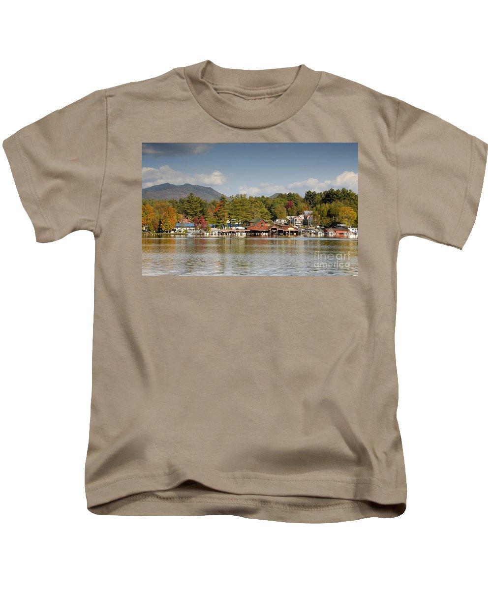 Saranac Lake New York Kids T-Shirt featuring the photograph Saranac Lake by David Lee Thompson