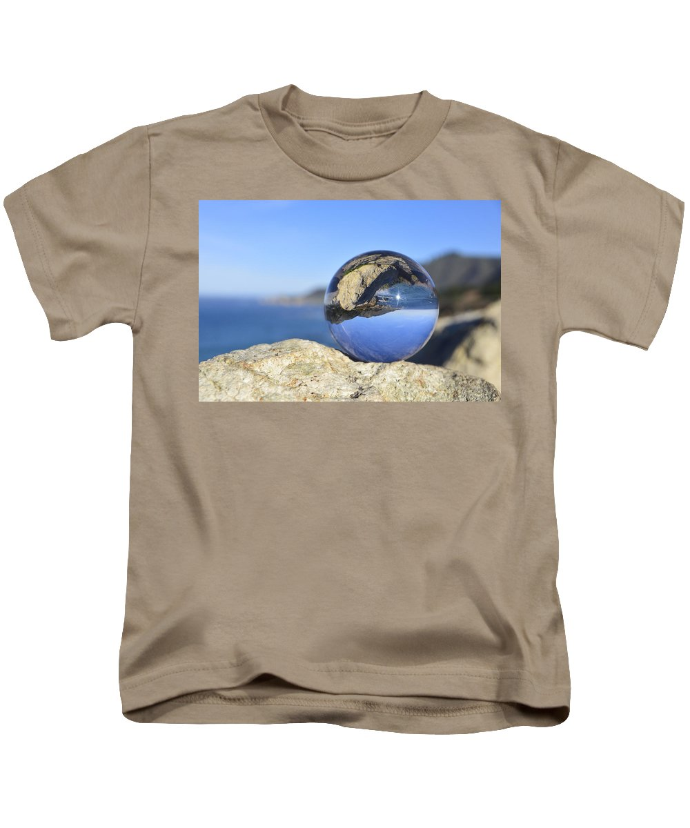Ocean Kids T-Shirt featuring the photograph Sea Side by Kellie Prowse