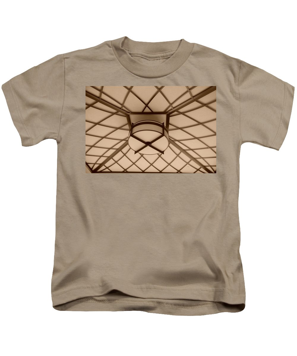 Sepia Kids T-Shirt featuring the photograph Sepia Lighted Box by Rob Hans