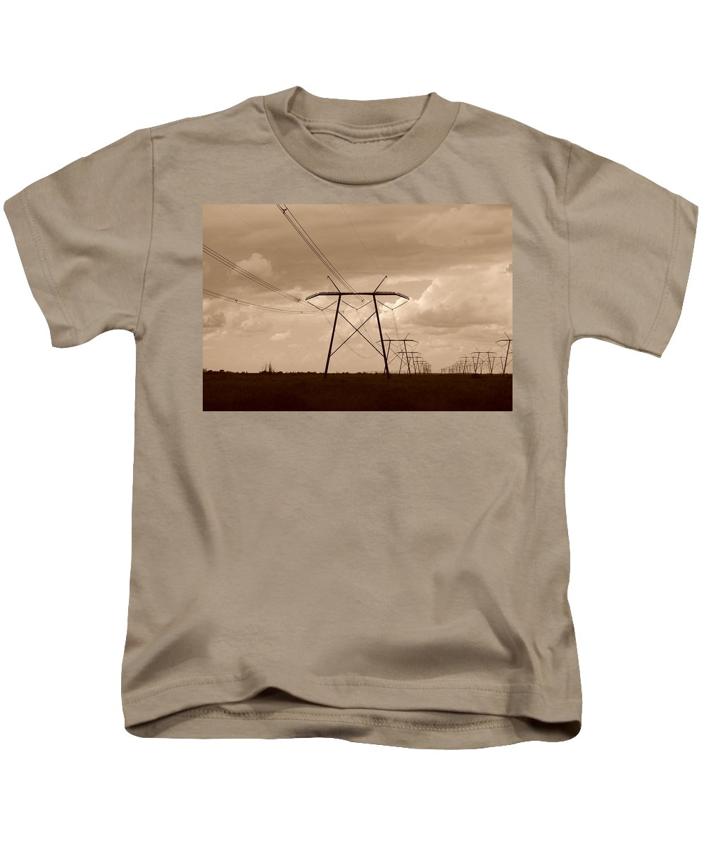 Sepia Kids T-Shirt featuring the photograph Sepia Power by Rob Hans
