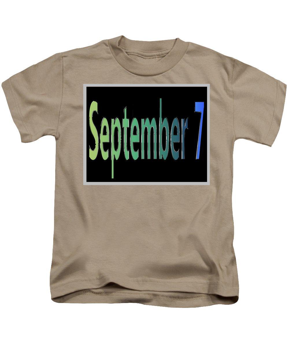 September Kids T-Shirt featuring the digital art September 7 by Day Williams