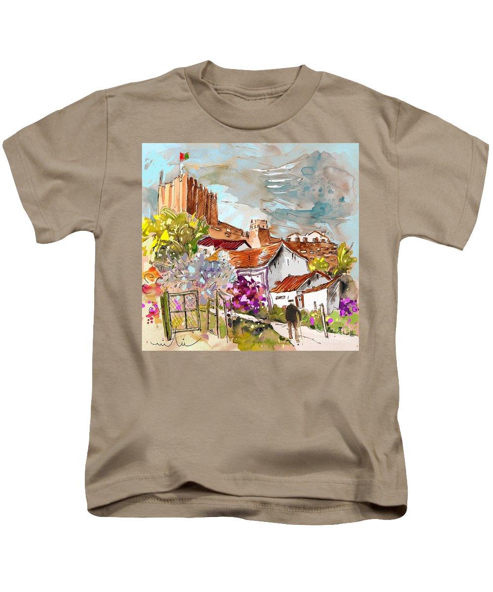 Water Colour Painting Serpa Portugal Kids T-Shirt featuring the painting Serpa Portugal 26 by Miki De Goodaboom