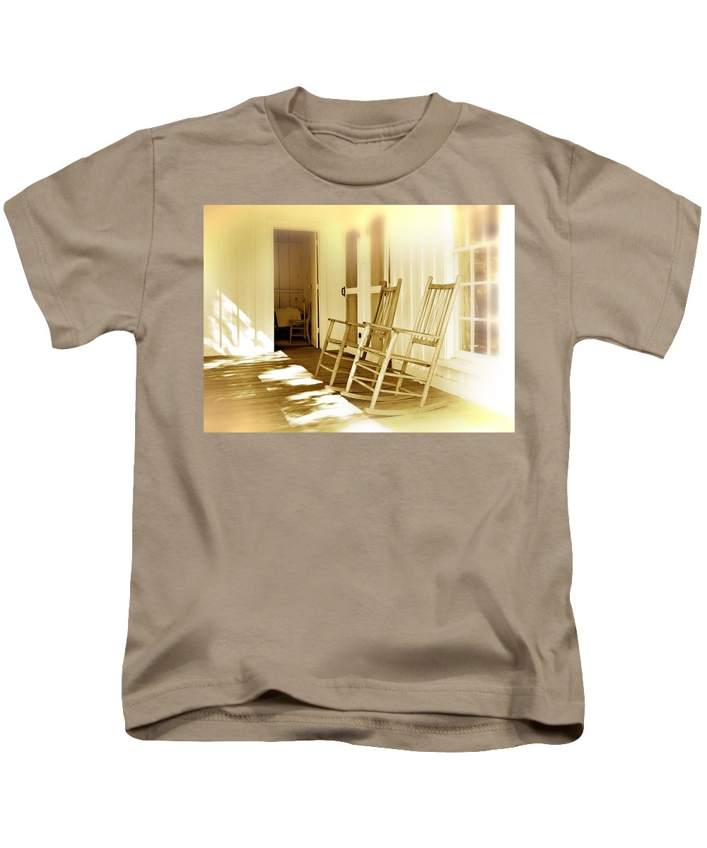Porch Kids T-Shirt featuring the photograph Shared Moments by Mal Bray