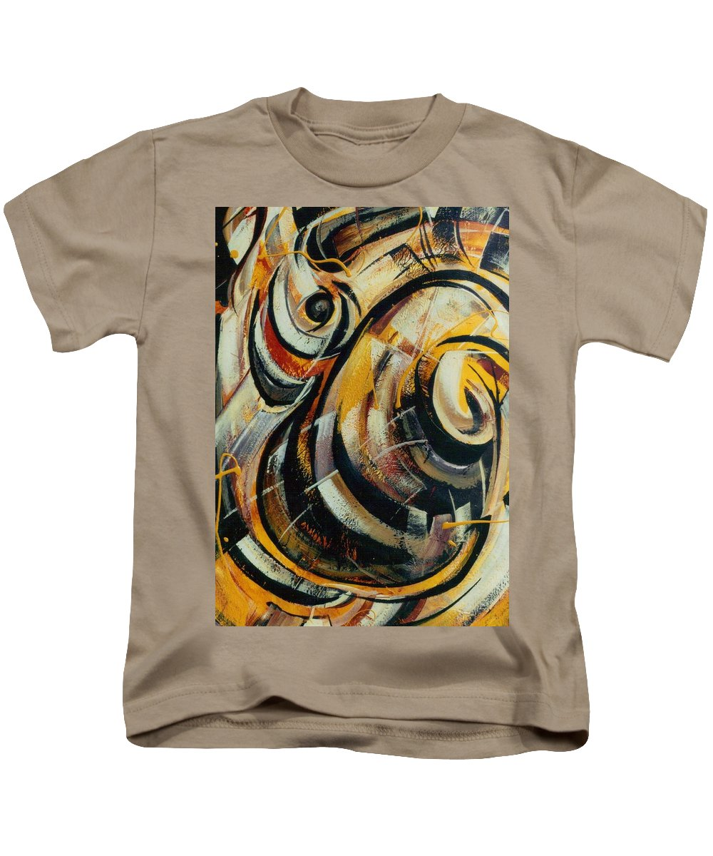 Movement Kids T-Shirt featuring the painting She Moves Me Vol.3 by Hasaan Kirkland