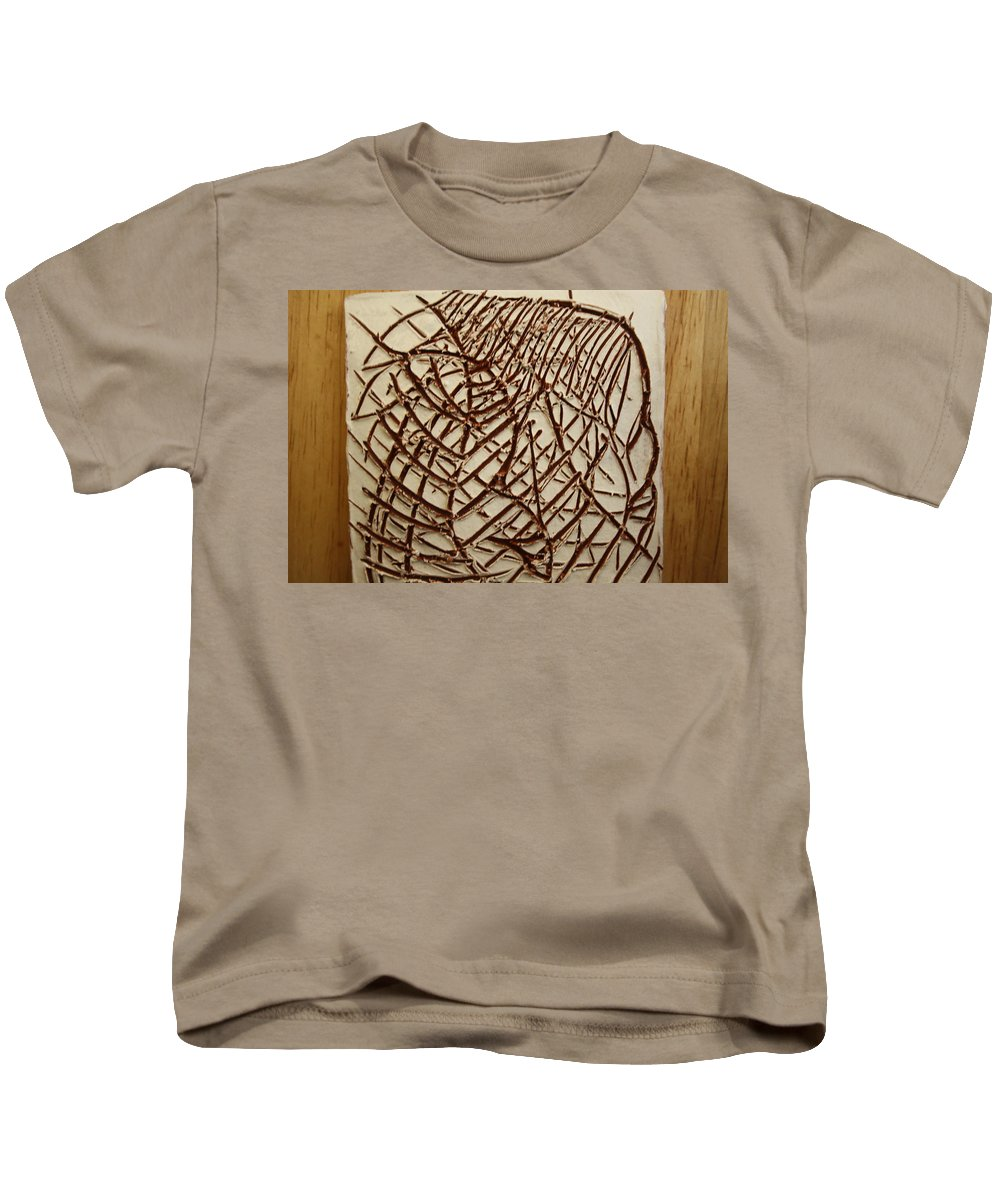 Jesus Kids T-Shirt featuring the ceramic art Signs - Tile by Gloria Ssali