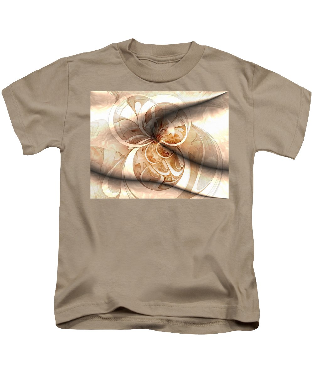 Digital Art Kids T-Shirt featuring the digital art Silk by Amanda Moore