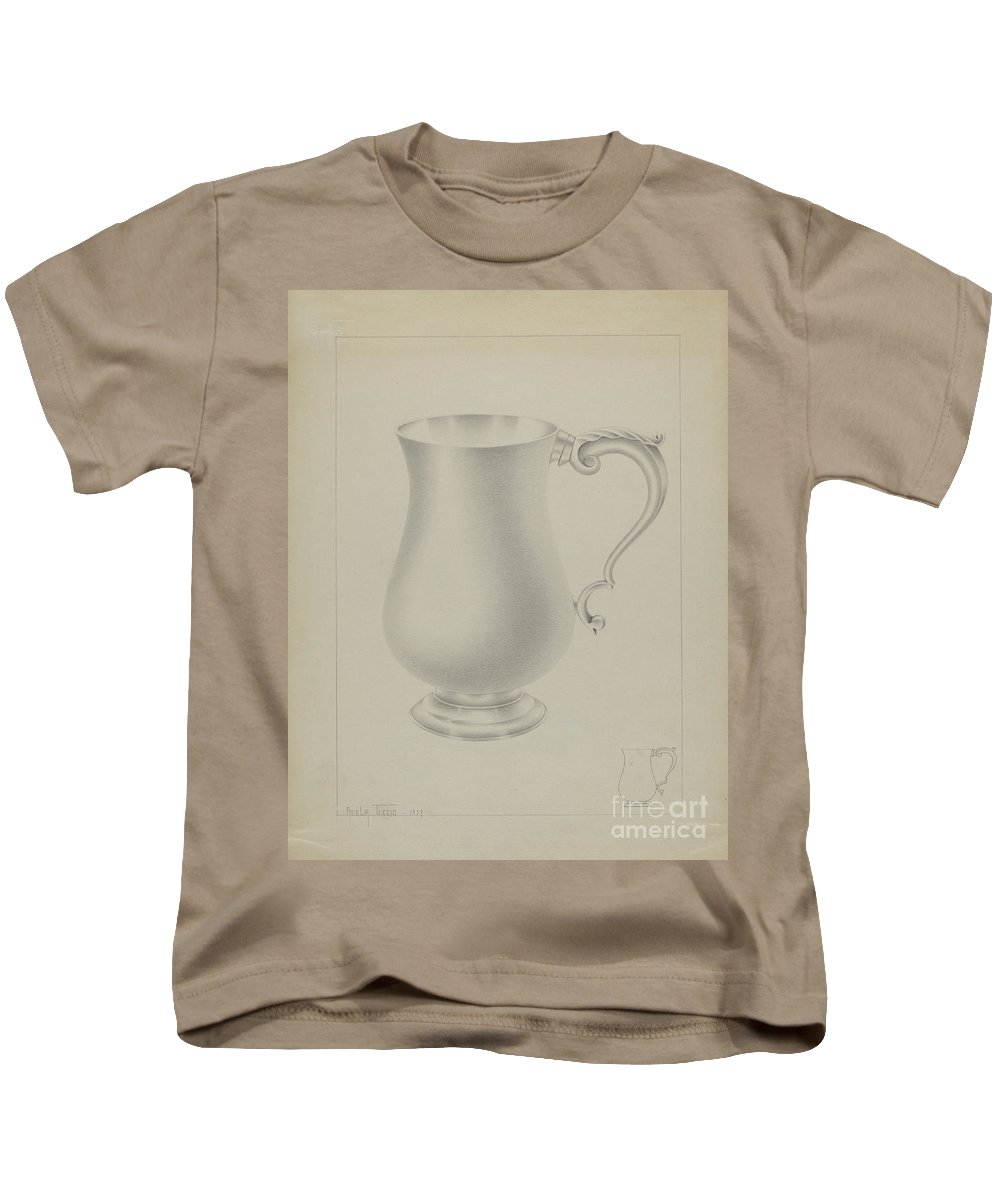 Kids T-Shirt featuring the painting Silver Mug by Amelia Tuccio