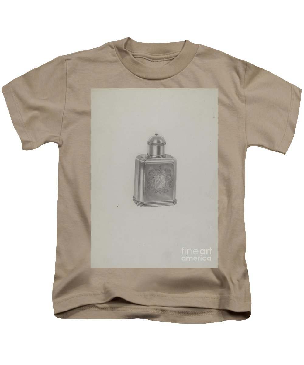 Kids T-Shirt featuring the painting Silver Tea Caddy by Michael Fenga