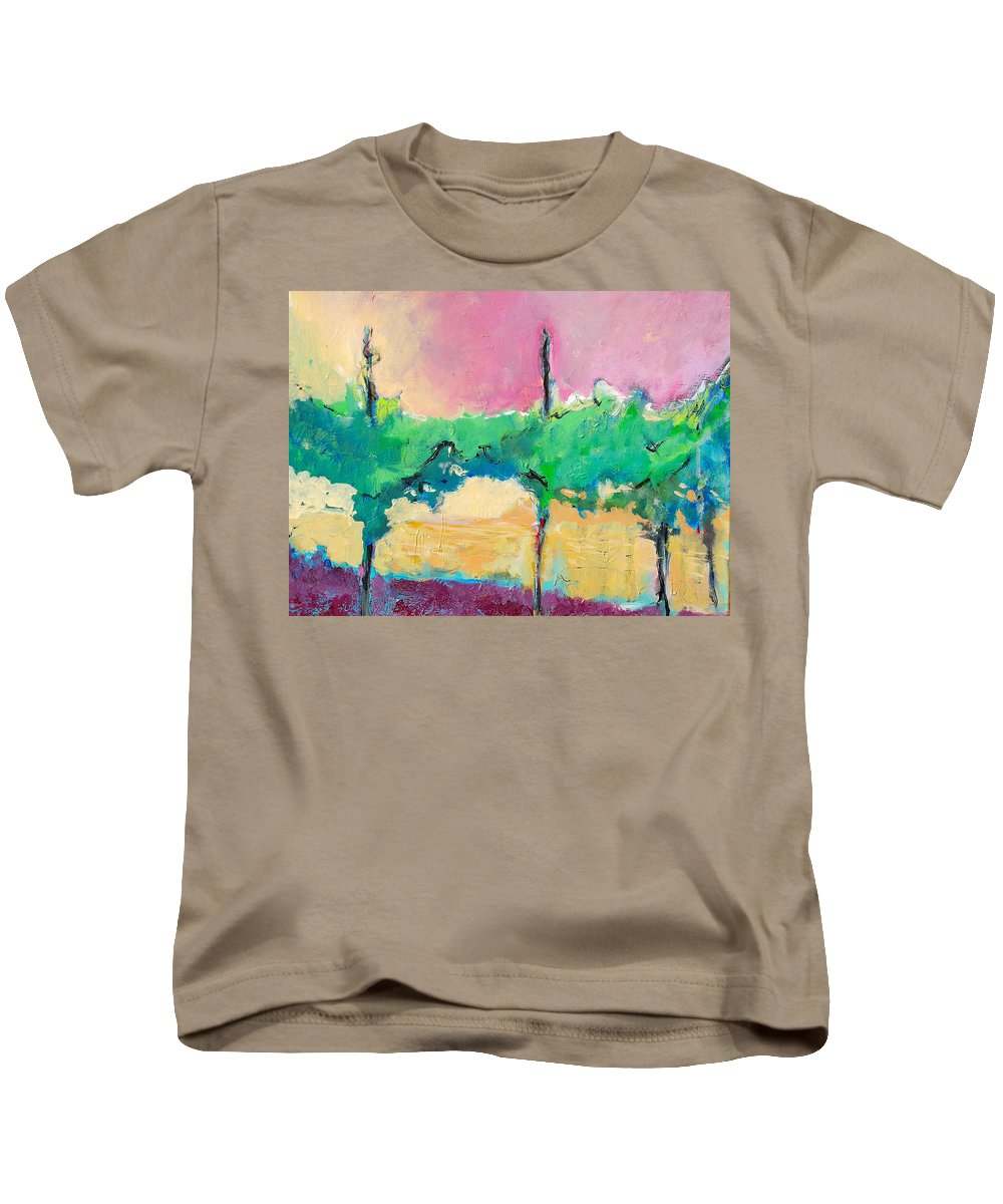 Vineyard Kids T-Shirt featuring the painting Simpatico by Kurt Hausmann