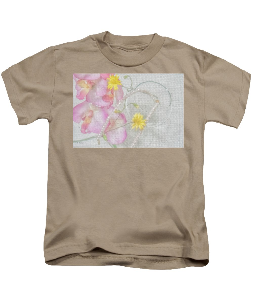Wine Kids T-Shirt featuring the photograph Simple Pleasures by Pamela Williams