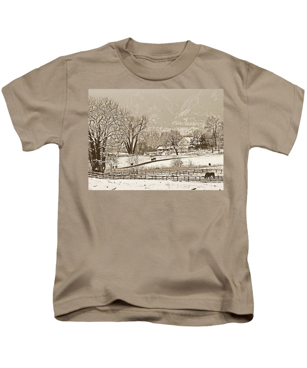 Landscape Kids T-Shirt featuring the photograph Simpler Times by Marilyn Hunt
