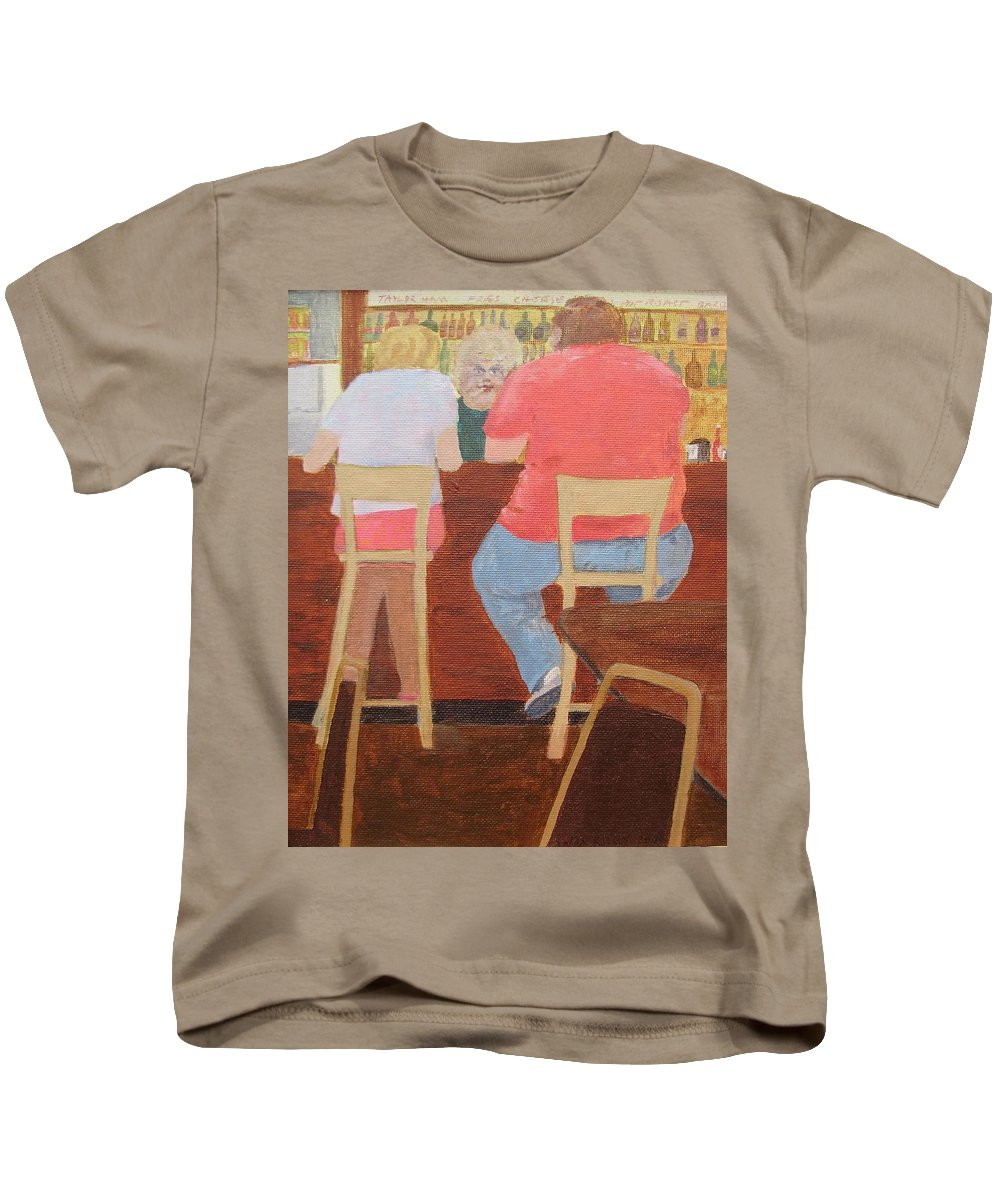 Rutt's Hut Kids T-Shirt featuring the painting Six Rippers by William Riley