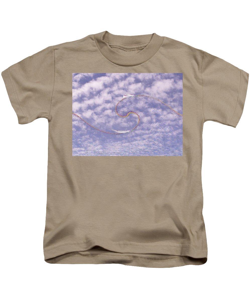 Sail Kids T-Shirt featuring the photograph Sky High Sail Surfin by Tim Allen