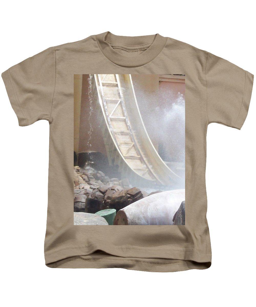 Slide Kids T-Shirt featuring the photograph Slide Splash by Pharris Art