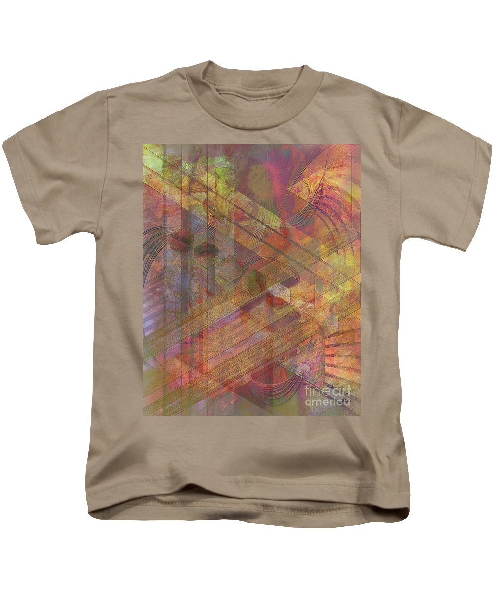 Soft Fantasia Kids T-Shirt featuring the digital art Soft Fantasia by John Beck
