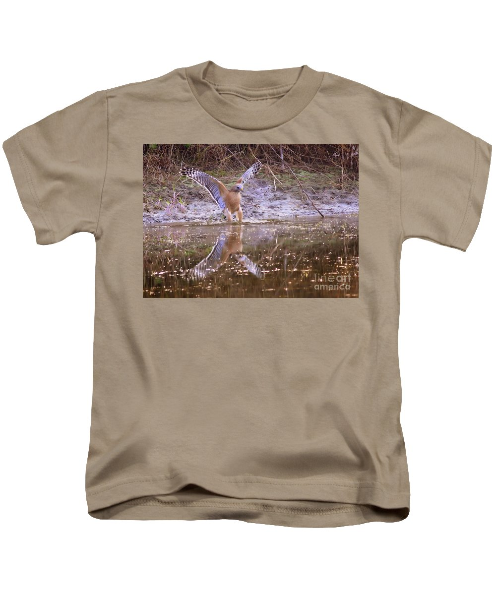 Nature Kids T-Shirt featuring the photograph Soft Landing On The Pond by Carol Groenen
