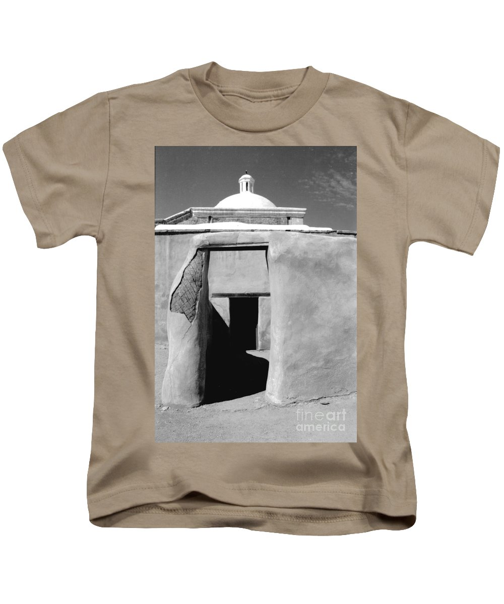 Shadows Kids T-Shirt featuring the photograph Sol Y Sombra by Kathy McClure