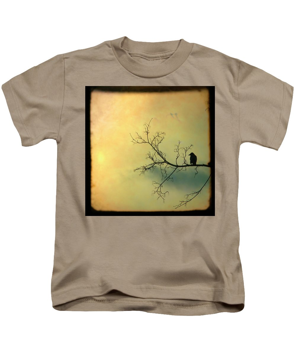 Through The Viewfinder Kids T-Shirt featuring the photograph Solitude Mood by Gothicrow Images