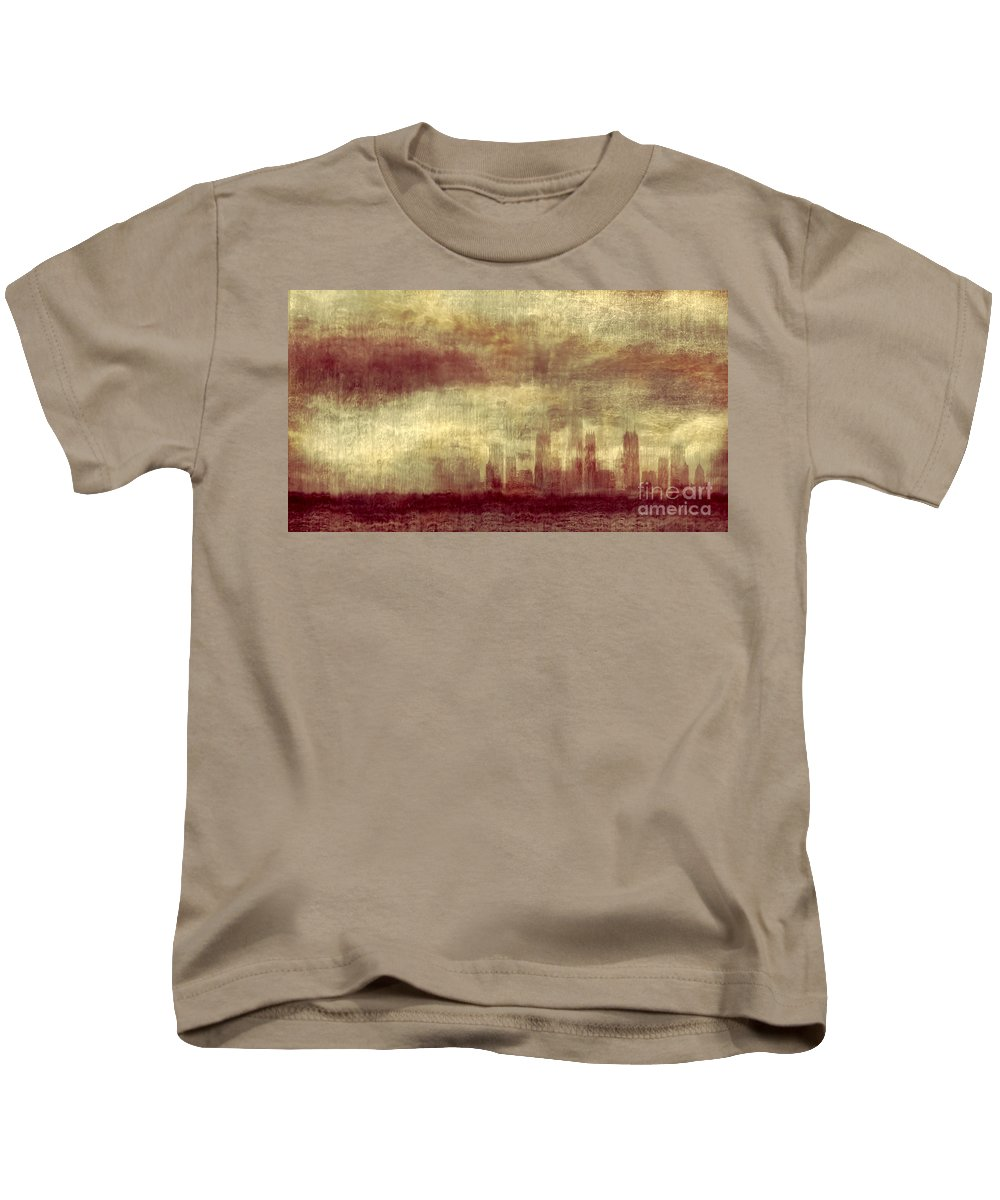 Clouds Kids T-Shirt featuring the photograph Someone To Hold You Beneath Darkened Sky by Dana DiPasquale