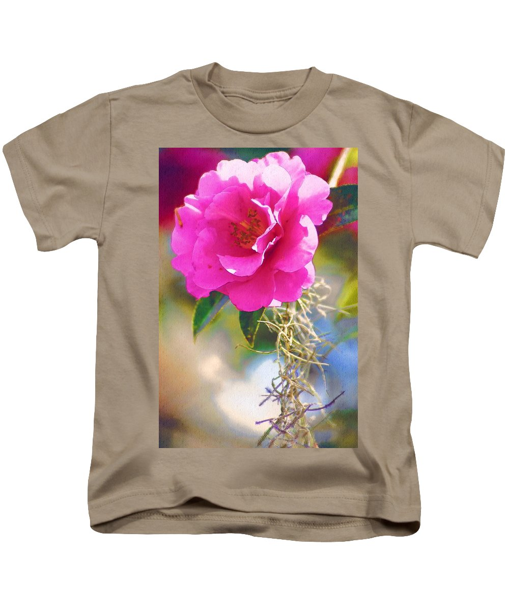 Rose Kids T-Shirt featuring the digital art Southern Rose by Donna Bentley