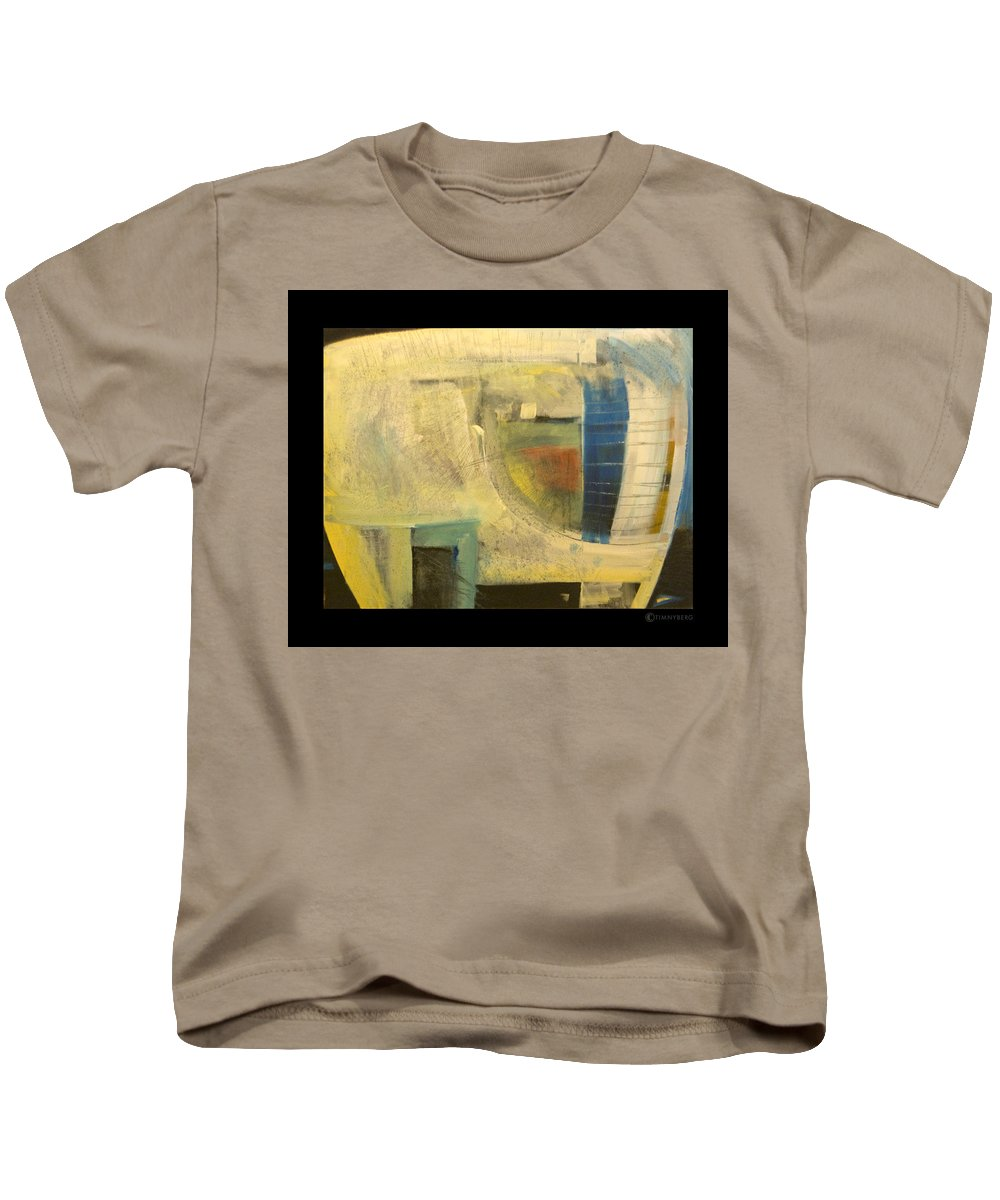 Dog Kids T-Shirt featuring the painting Space Dog by Tim Nyberg