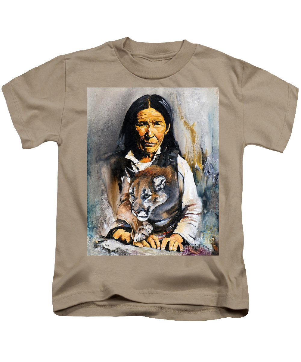 Spiritual Kids T-Shirt featuring the painting Spirit Within by J W Baker