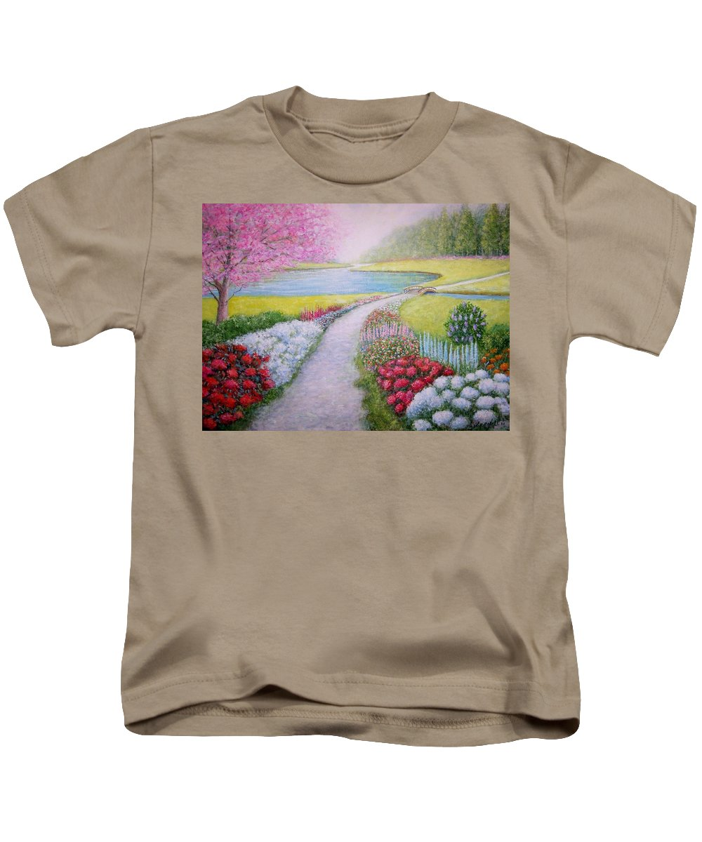 Landscape Kids T-Shirt featuring the painting Spring by William H RaVell III