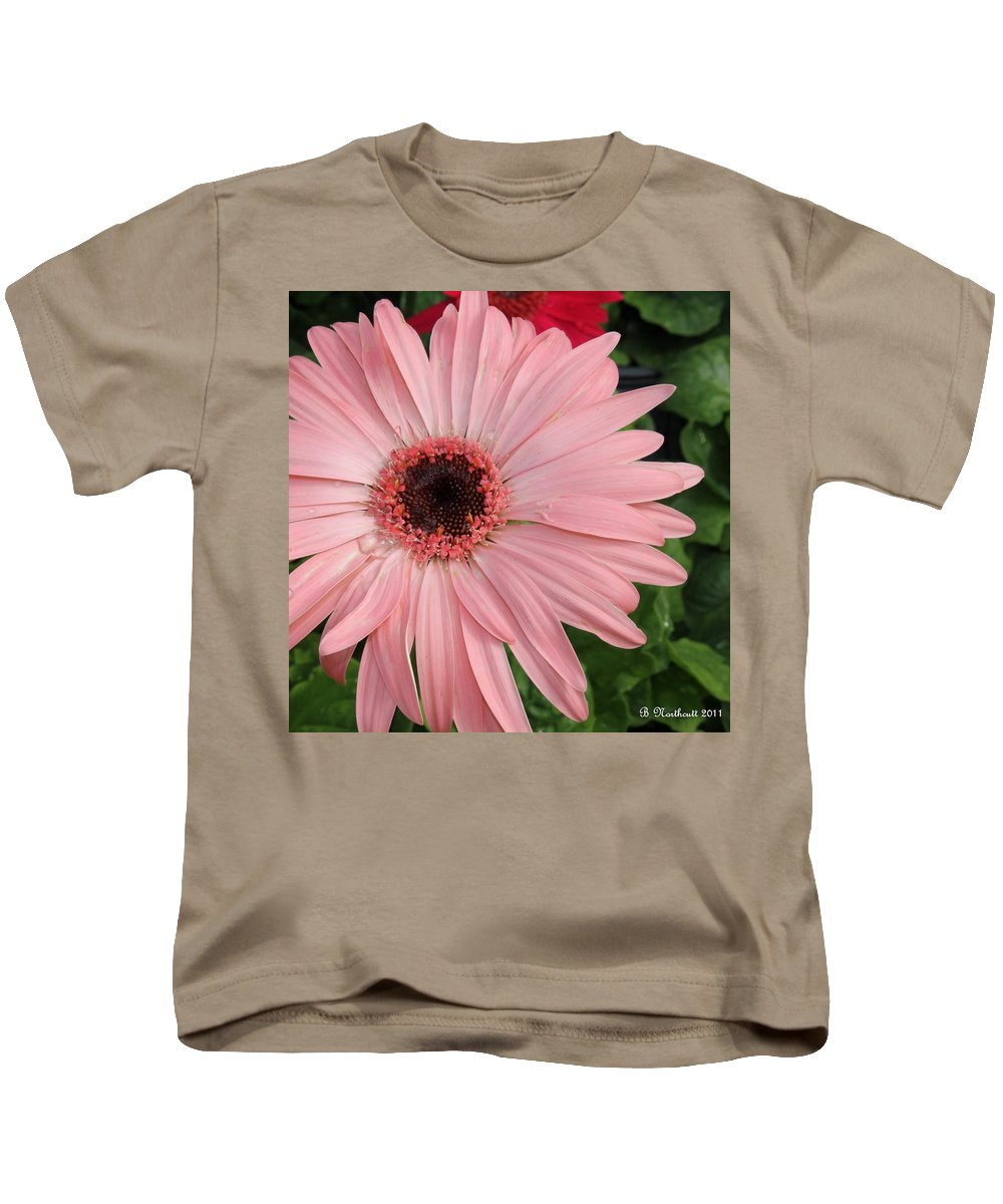 Gerber Kids T-Shirt featuring the photograph Square Framed Pink Daisy by Betty Northcutt