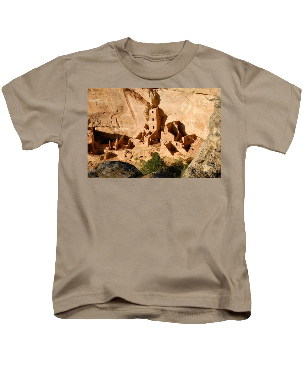 Square Tower Kids T-Shirt featuring the photograph Square Tower Ruin by David Lee Thompson