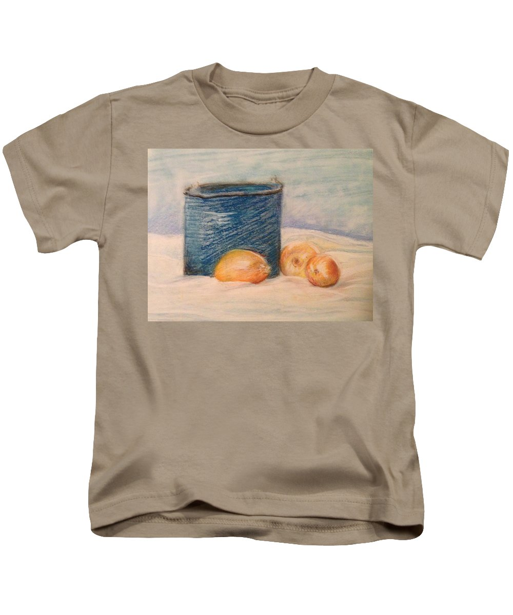 Pastel Kids T-Shirt featuring the pastel Still Life Number 1 by Michael Martone