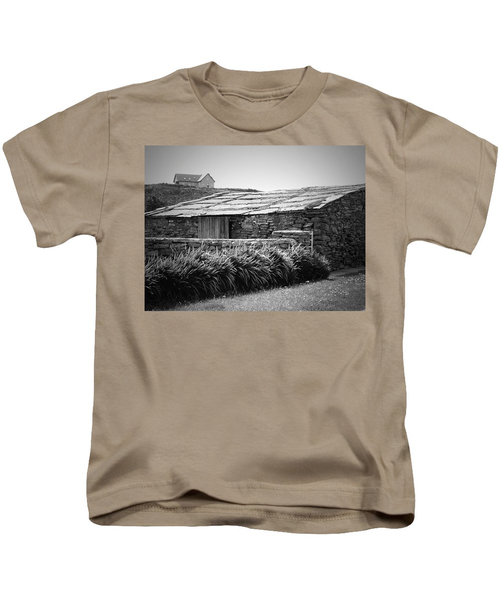 Irish Kids T-Shirt featuring the photograph Stone Structure Doolin Ireland by Teresa Mucha