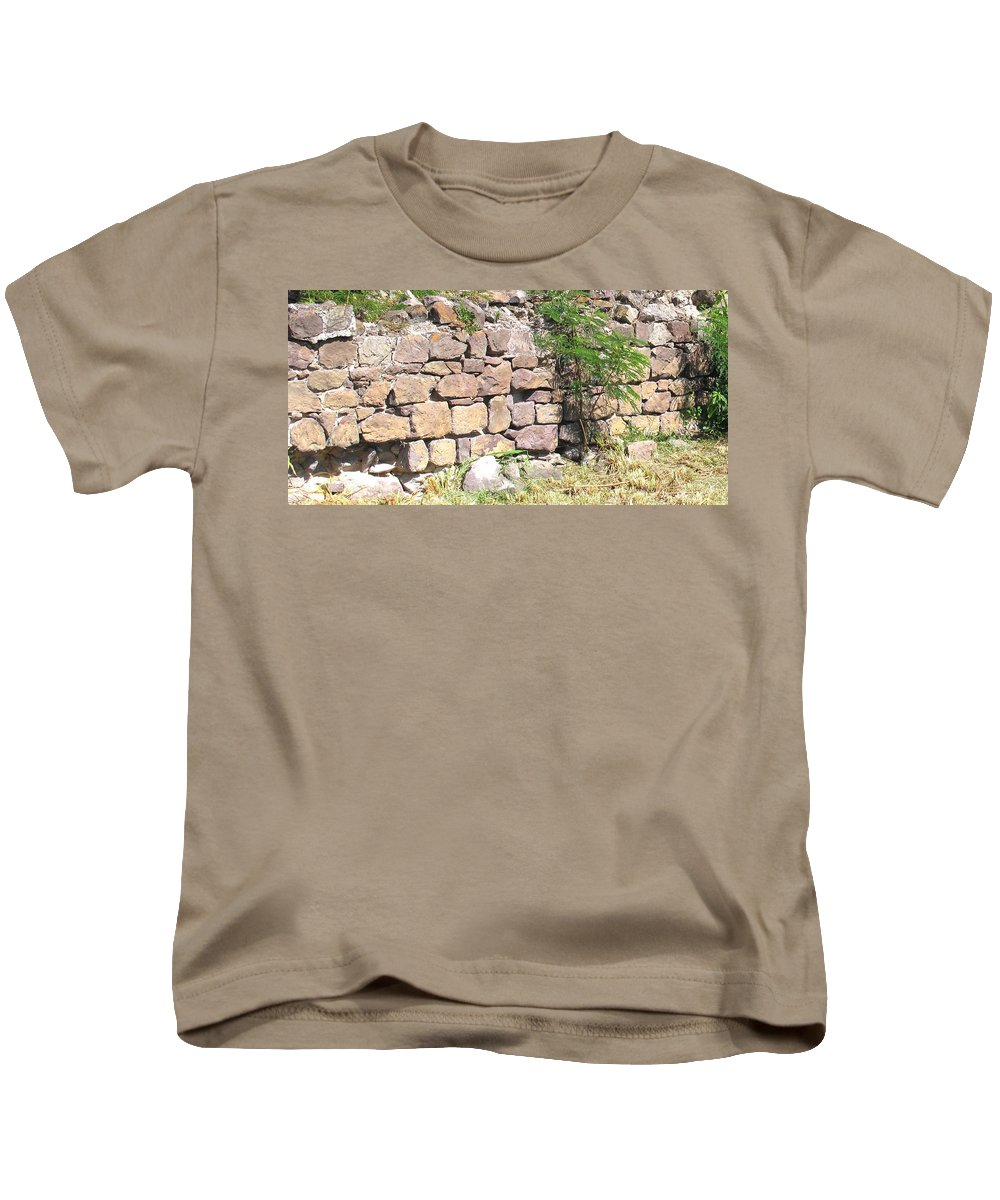 Stone Wall Kids T-Shirt featuring the photograph Stone Wall by Ian MacDonald