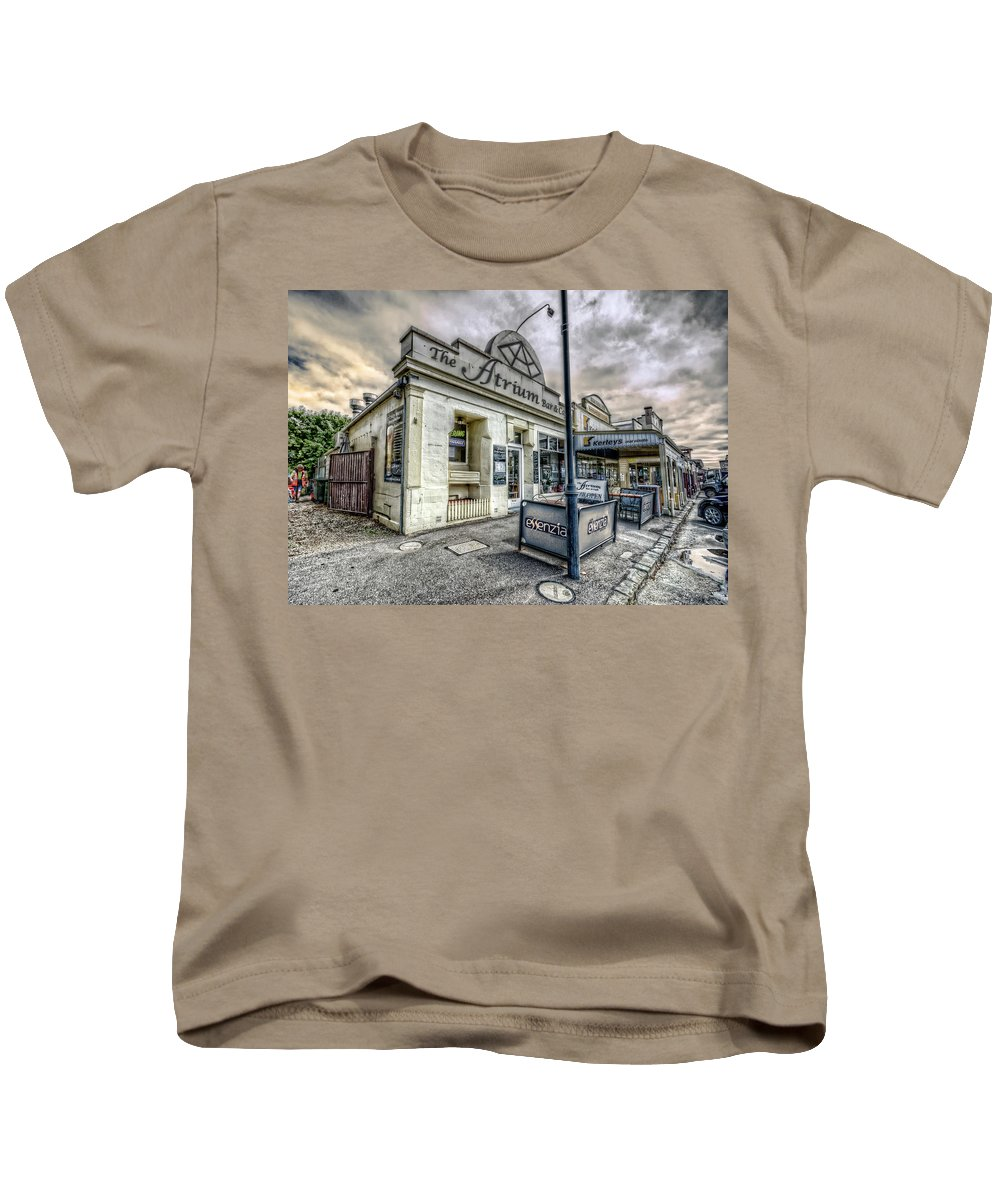 Queenscliff Kids T-Shirt featuring the photograph Street Narrative by Wayne Sherriff