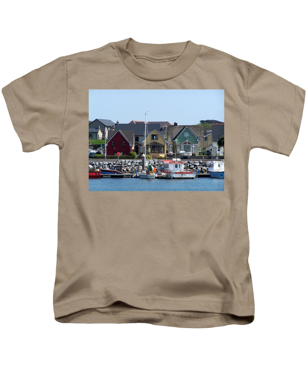 Irish Kids T-Shirt featuring the photograph Summer Cottages Dingle Ireland by Teresa Mucha
