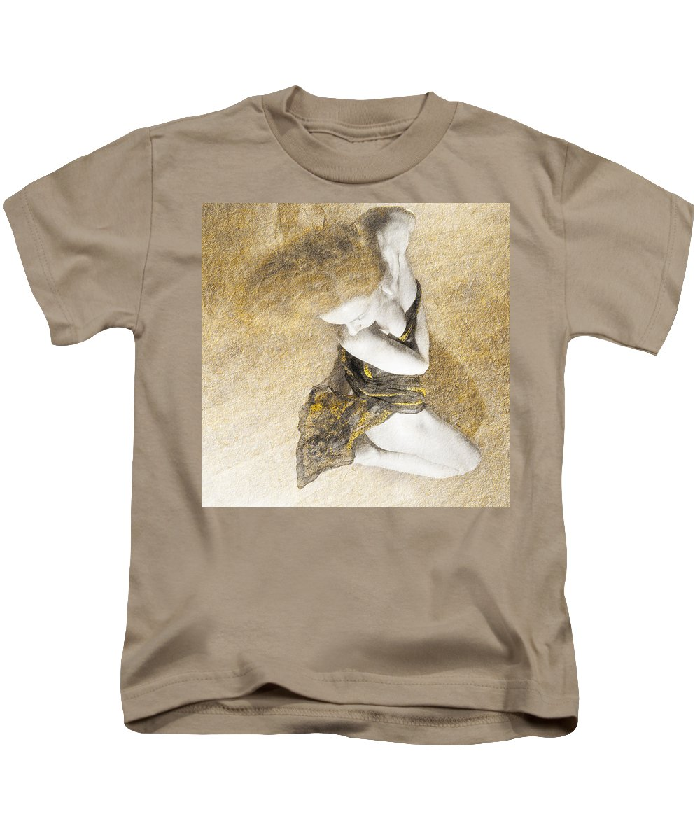 Woman Kids T-Shirt featuring the photograph Summer Romance V5 by Alex Art and Photo