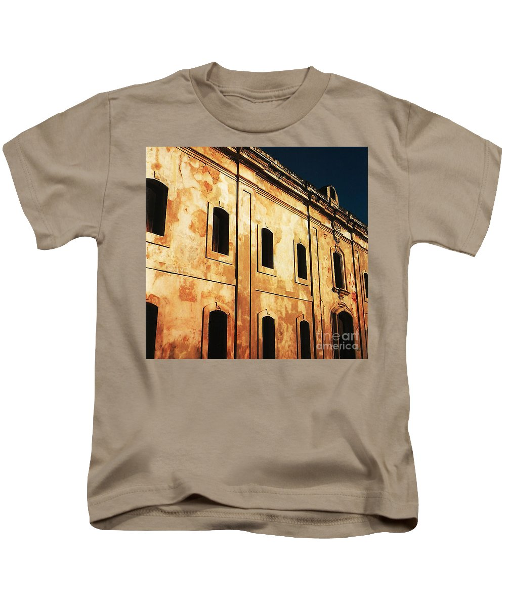 Buildings Kids T-Shirt featuring the photograph Sun Kissed by Jeff Barrett